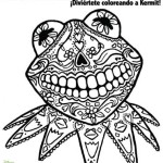 El Dia De Los Muertos (the Day of the Dead) & a Kermit the Frog Coloring Page