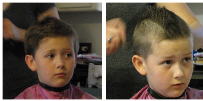 Mohawk Hair Cut What Will This Kid Think Of Next The Night Owl Mama