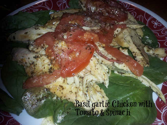 basil-garlic-chicken-spinach-salad