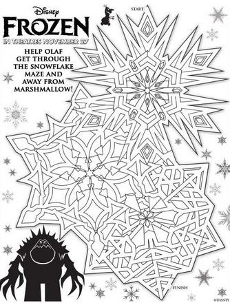 snowflake-maze-printables-kids-activities-Frozen