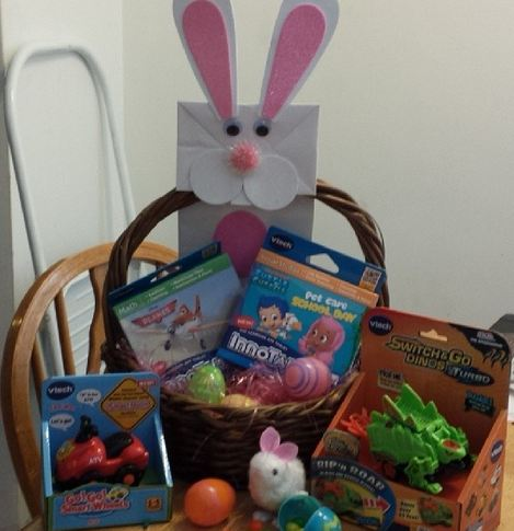 Easter Baskets And A Vtech Toys Surprise Giveaway The