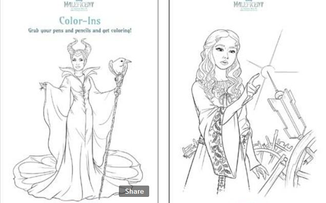 8 printable disney 39 s maleficent activity sheets for Maleficent coloring pages