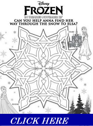Download Frozen Maze and Activity Sheets