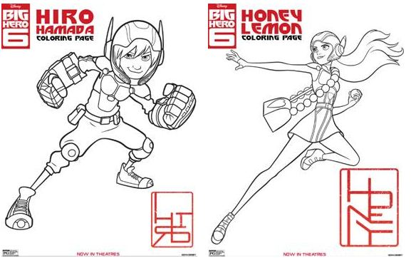 Big Hero 6 Review With Printable Activity Sheets And Coloring