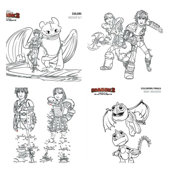 Free Coloring Pages Of How To Train Your Dragon 2