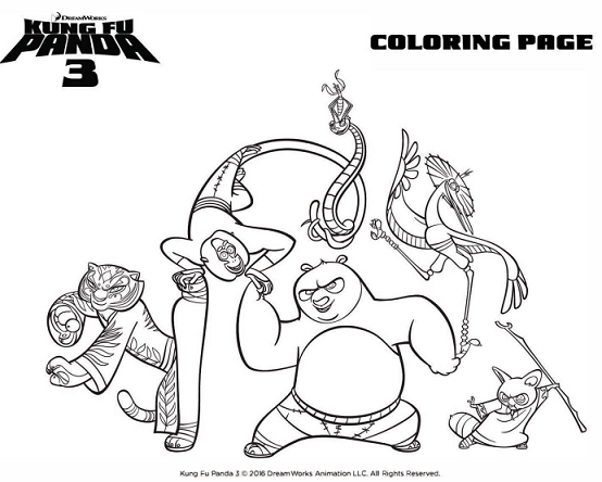 kung fu coloring pages - photo#36