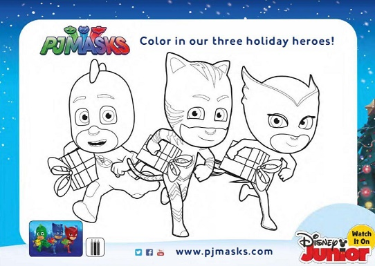 A Super PJ Masks Holiday Season With Activity And Coloring Pages