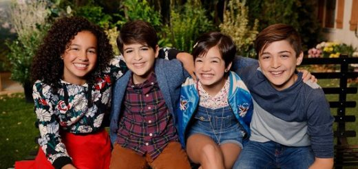 Sofia Wylie as Buffy, Joshua Rush as Cyrus, Peyton Elizabeth Lee as Andi and Asher Angel as Jonah. (Disney Channel/Craig Sjodiin)