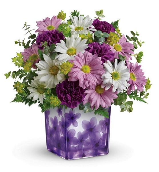 teleflora dancing violets bouquet