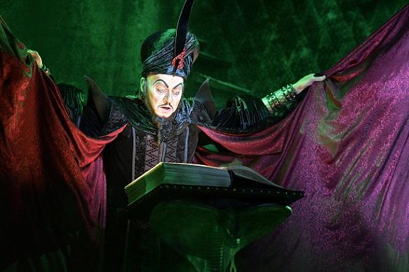 Jonathan Weir (Jafar). Aladdin North American Tour Original Cast. Photo by Deen van Meer.