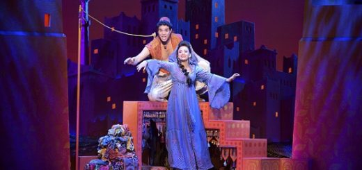 Adam Jacobs (Aladdin) & Isabelle McCalla (Jasmine). Photo by Deen van Meer