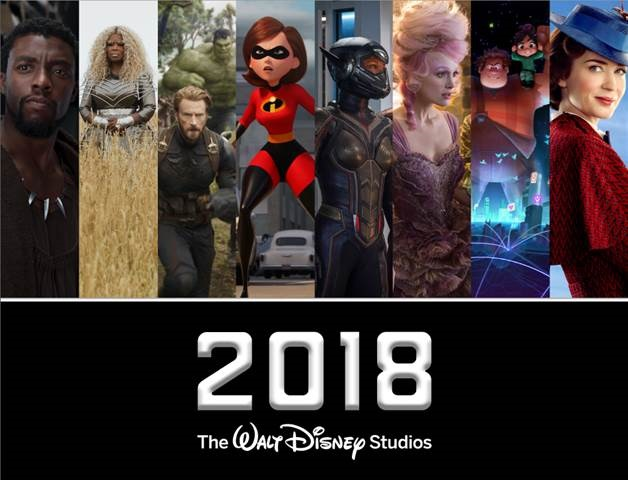 2018 Walt Disney Studios Motion Pictures And Dates They