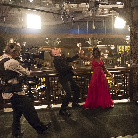 Marvel Studios' BLACK PANTHER Danai Gurira (Okoye) BTS on set of Black Panther Ph: Matt Kennedy ©Marvel Studios 2018