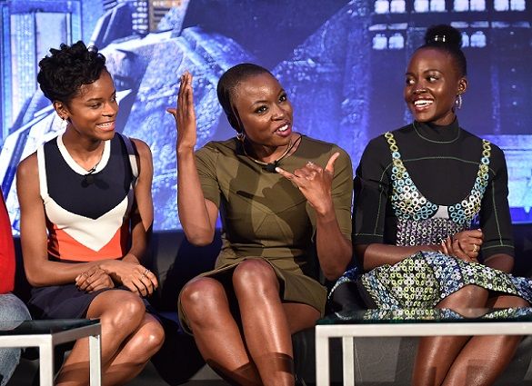 marvels black panther conference interviews with cast and