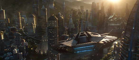 Marvel Studios' BLACK PANTHER..Talon Fighter over Wakanda..Ph: Film Frame..©Marvel Studios 2018